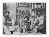 The Martin Brothers in the Studio at the Southall Pottery (B/W Photo)