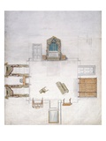 Design for a Bedroom  by Gillow and Company (W/C on Paper)