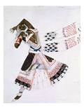 Costume Design from Le Dieu Bleu  1911 (Colour Litho)