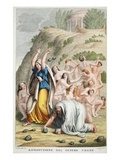 Restoration of the Human Race  Book I  Illustration from Ovid's Metamorphoses  Florence  1832