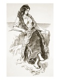 Girl of Iona  from 'The Illustrated London News'  1849 (Engraving)