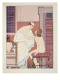Oral Examination  Illustration from 'The Works of Hippocrates'  1934 (Colour Litho)