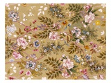 Flowered Textile Design  Possibly by William Kilburn (1745-1818) (Colour Litho)
