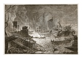 The Battle of Actium (Litho)