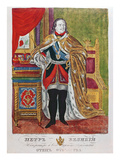 Tsar Peter the Great (1672-1725)  1845 (Colour Litho)