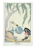 Water, 1925 (Pochoir Print) Giclée par Georges Barbier