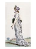 Ladies Walking Dress  Illustration from 'Journal Des Dames Et Des Modes'  1800 (Coloured Engraving)