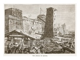 The Attack on Rhodes (Litho)