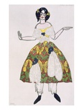 Costume for a Female Puppet  from La Boutique Fantastique  1917 (Colour Litho)