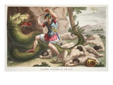 The Serpent Is Killed by Cadmus  Illustration from Ovid's Metamorphoses  Florence  1832