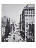 Broad Street  Looking Towards Wall Street  New York  1893 (B/W Photo)