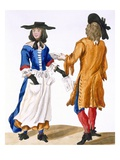 Habits of Ballad Singers  C1675 (Coloured Engraving)