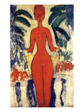 Standing Nude  1913 (Oil on Board)
