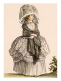 A Lady's Summer Promenade Gown  Engraved by Deny  from 'Galeries Des Modes Et Costumes Francais'