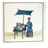 The Book Seller  from a Book on the Street Calls of Peking  C1785 (W/C and Gouache on Paper)