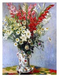 Vase of Flowers, 1878 Reproduction d'art par Claude Monet