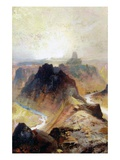 The Grand Canyon  Utah  1874 (Oil on Paper)