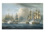Capture of the Pomone by Hms Arethusa Off Cuba in 1806  Engraved by T Sutherland