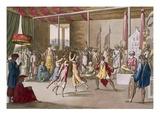 Cochin Chinese Drama  from 'Costume Dei' by Giulio Ferrario  C1820S-30S (Coloured Engraving)