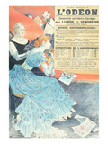 Advertisement for the Odeon Theatre  1890 (Colour Litho)