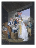 Gretna Green  or the Red-Hot Marriage  Pub by Aurrie and Whittle  1794 (Coloured Engraving)
