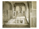 Cairo: Mandarah: Reception Room  Ground Floor  with Pool and Fountain  19th Century (Colour Litho)