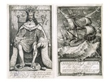 Frontispiece and Title Page to &#39;Bibliotheca Regia  or the Royal Library&#39;  1659