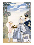 Elizabethan England  from 'The Art of Perfume'  Pub 1912 (Pochoir Print)