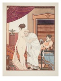 Chest Sounds  Illustration from 'The Works of Hippocrates'  1934 (Colour Litho)