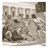 Slaughter of the Pisistratide (Litho)