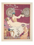 Aromatic Fumigations  Illustration from 'The Works of Hippocrates'  1934 (Colour Litho)