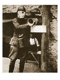A Klaxon Horn Used to Give Warning Against German Gas-Attacks in a French Trench