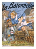 Their Spies  Title Page from 'La Baionnette'  1915 (Colour Litho)