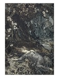 Titania Lying Asleep  Illustration from &#39;Midsummer Nights Dream&#39; by William Shakespeare  1908