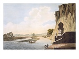 Pl 26 a View of the Gaut at Etawa  on the Banks of the River Jumna  from &#39;Select Views in India&#39;