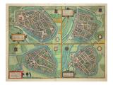 Map of Arnhem  Velmo  Gelre  and Ruerm  from 'Civitates Orbis Terrarum'
