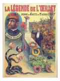 Poster Advertising 'La Legende De L'Oeillet'  a Play by Georges Fagot (Colour Litho)