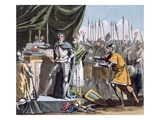 The Historic Day of Bouvines in 1214  Engraved by Jean Baptiste Morret (Fl 1790-1820)  1790