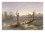 Zanjueelah  the Boatman of the Rapids  from 'The Victoria Falls  Zambesi River'  Pub 1865