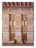 Cairo: Interior of the Mosque of Qaitbay; Worshippers Pray at the Side Wall of the Mihrab C15th