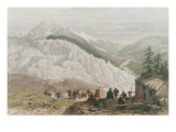 The Glacier and the Chamonix Valley  Engraved by Adolphe Bayot (1810-66) Mid 19th Century