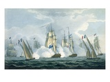 Hms Sirius  Captain Rowse Engaging a French Squadron Off the Mouth of the Tiber  17th April  1806