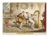 Harmony before Matrimony'  Published 1805 (Coloured Engraving)