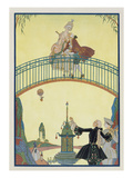Love on the Bridge  Illustration for 'Fetes Galantes' by Paul Verlaine (1844-96) 1928