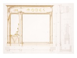 Design for a Fashion Shop Front  Illustration from &#39;Menuiserie D&#39;Art Nouveau&#39; Published C1900