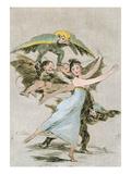 No Te Escaparas (You Will Not Escape)  Plate 72 of 'Los Caprichos'  Late 18th Century