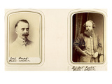 Portraits of Carl Haas and Myles Birket Foster (Sepia Photo)