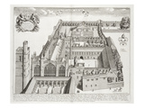 New College  Oxford  from 'Oxonia Illustrata'  Published 1675 (Engraving)