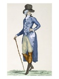 Master of the Royal House in an Elaborate Blue Coat  Engraved by Le Beau  Plate No256