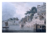 Dasasvamedha Ghat  Benares  Uttar Pradesh  C1788-89 (Coloured Aquatint)